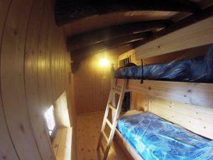 Terza camera con un letto a castello